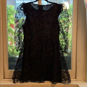 LIKE NEW Zara Floral Tulle A-Line Dress